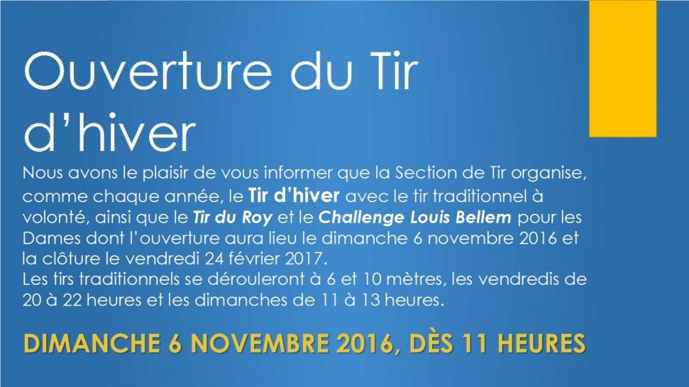 """Ouverture Tir d&rsquo;hiver 2016 <span class=""""dashicons dashicons-calendar""""></span> <span class=""""dashicons dashicons-location""""></span>"""